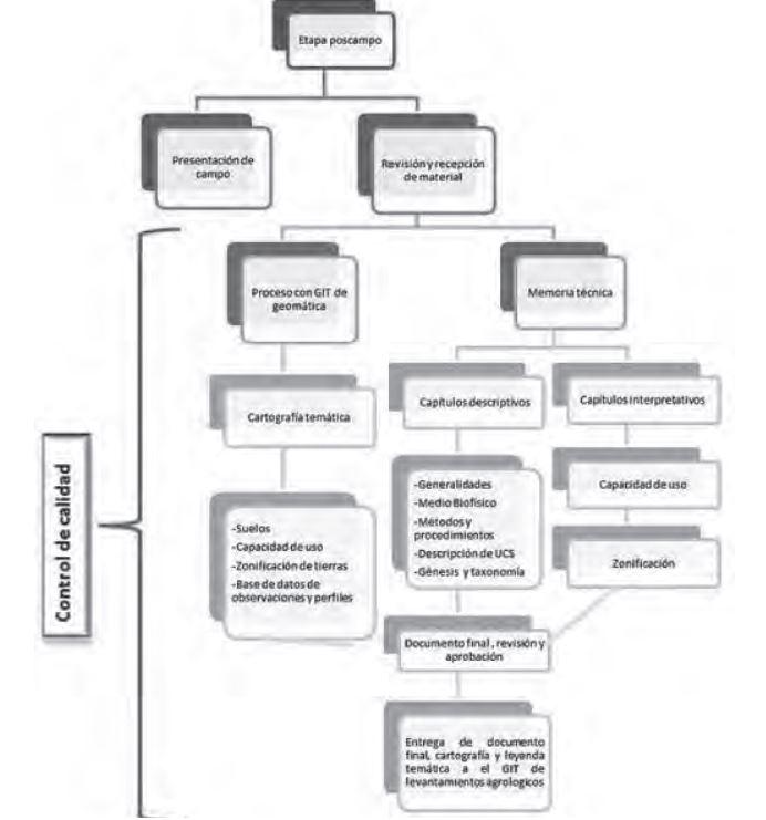 Figura 1. Esquema de procesos para la etapa poscampo