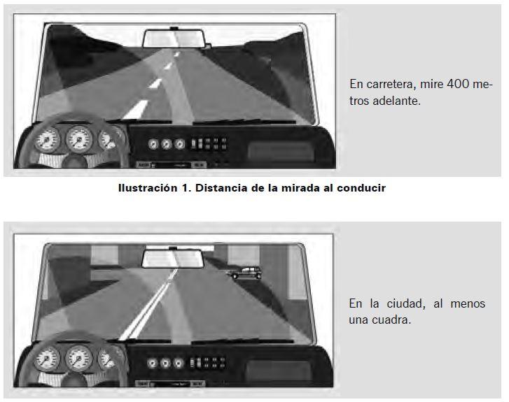 Ilustración 2. Distancia de la mirada al conducir