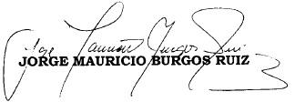 Firma magistrado Burgos