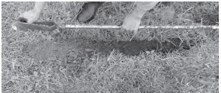 Figura 5 Extracción de suelo con barreno (Fototeca)