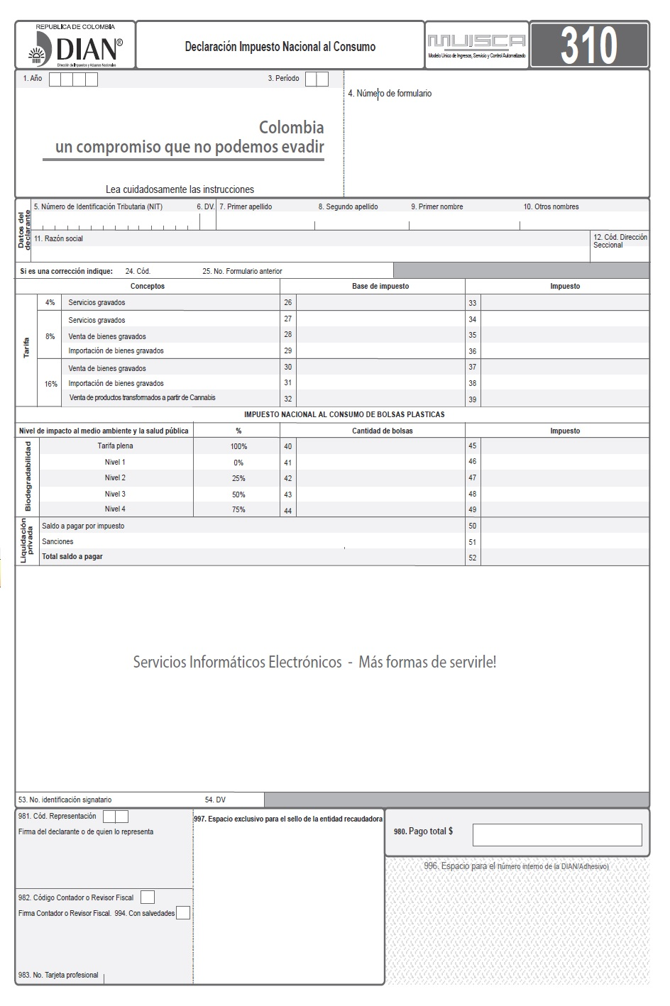 R2 FORM 310 A