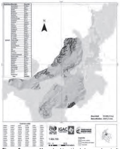 Figura 2. Mapa de ubicación de la zona de estudio
