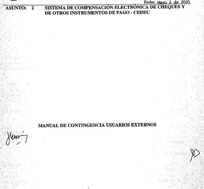 CIRCULAR REGLAMENTARIA EXTERNA 153 DE MAYO 2 DE 2005 5